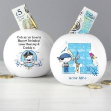 Personalised Pirate Letter Money Box P0306H62